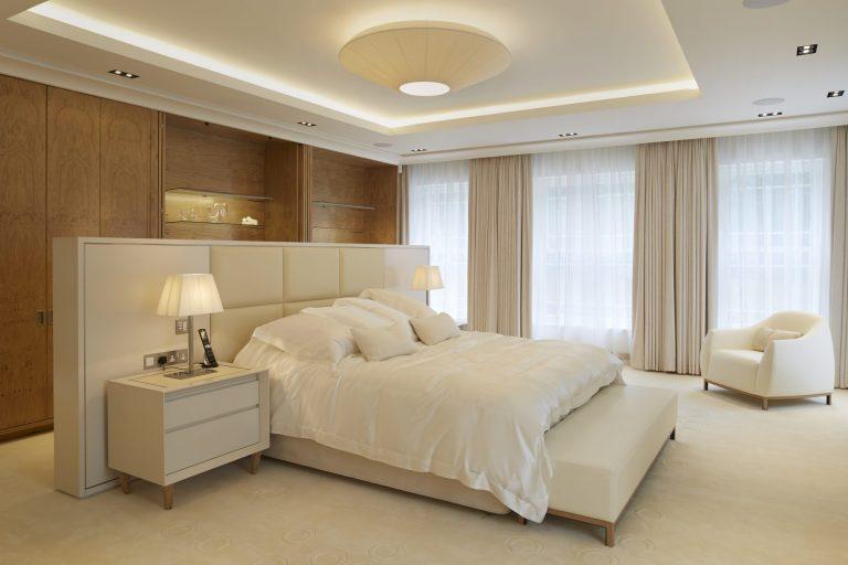 bedroom lighting white duvet