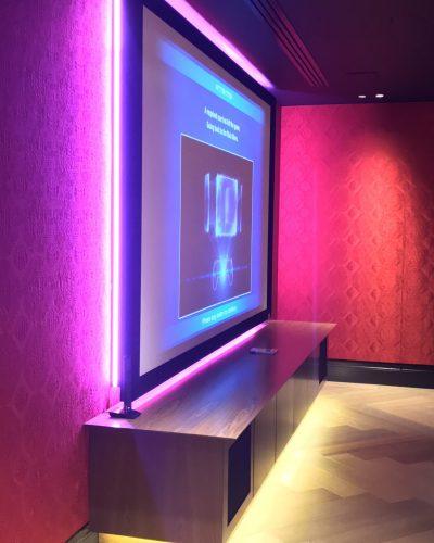 home cinema screen lighting