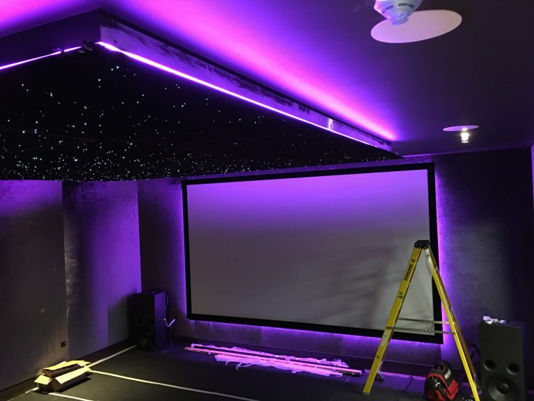 cinema screen lights ceiling